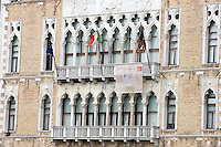 La facciata della Ca' Foscari a Venezia.<br /> The facade of the Ca' Foscari, in Venice.<br /> UPDATE IMAGES PRESS/Riccardo De Luca