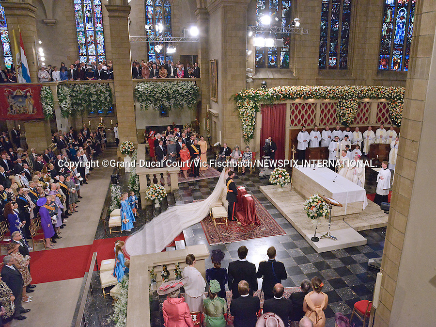 "Wedding of HRH the Hereditary Grand Duke Guillaume and Countess Stéphanie de Lannoy.at the Catherdral of Our Lady of Luxembourg, Luxembourg_20-10-2012.Mandatory credit photo: ©Grand-Ducal Court/Vic Fischbach/NEWSPIX INTERNATIONAL..(Failure to credit will incur a surcharge of 100% of reproduction fees)..                **ALL FEES PAYABLE TO: ""NEWSPIX INTERNATIONAL""**..IMMEDIATE CONFIRMATION OF USAGE REQUIRED:.Newspix International, 31 Chinnery Hill, Bishop's Stortford, ENGLAND CM23 3PS.Tel:+441279 324672  ; Fax: +441279656877.Mobile:  07775681153.e-mail: info@newspixinternational.co.uk"