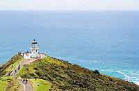 tourists at Cape Reinga Light house, New Zealand