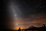 Mt. Baker with stars rising, shot from Artist Point and the Table Mountain trail.