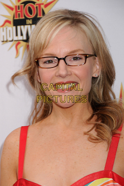 """RACHAEL HARRIS.Legendary Bingo's 10th Anniversary """"Hot In Hollywood"""" Benefit at Hamburger Mary's, West Hollywood, California, USA..May 14th, 2008.headshot portrait glasses red straps rachel .CAP/ADM/BP.©Byron Purvis/AdMedia/Capital Pictures."""