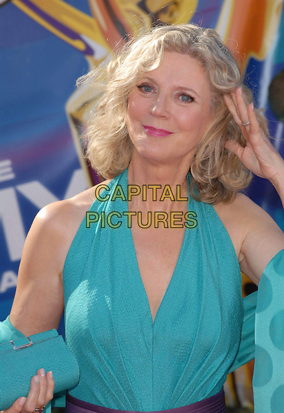 BLYTHE DANNER.58th Annual Primetime Emmy Awards held at the Shrine Auditorium, Los Angeles, California, USA..August 27th, 2006.Ref: ADM/CH.half length turquoise hand halterneck.www.capitalpictures.com.sales@capitalpictures.com.©Charles Harris/AdMedia/Capital Pictures.