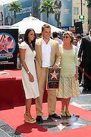 Luciana, the wife of actor Matt Damon and his mother pose for photos as he is honored with the 2,343rd star on the 'Hollywood Walk of Fame' on Hollywood Boulevard in Los Angeles, California on 25 July 2007. Photo by Nina Prommer/Milestone Photo