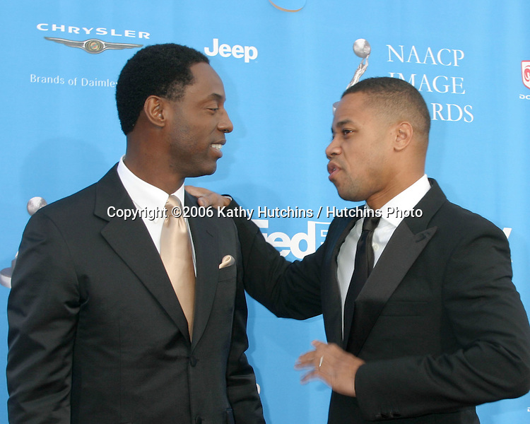 Isaiah Washington .Cuba Gooding Jr.37th NAACP Image Awards.Shrine Auditorium.Los Angeles, CA.February 25, 2006.©2006 Kathy Hutchins / Hutchins Photo....