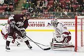 Adam Dauda (Colgate - 12), Merrick Madsen (Harvard - 31) -  - The Harvard University Crimson defeated the visiting Colgate University Raiders 7-4 (EN) on Saturday, February 20, 2016, at Bright-Landry Hockey Center in Boston, Massachusetts.