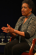 June 5, 2013  (Washington, DC)  Mrylie Evers, widow of slain civil rights activist Medgar Evers, speaks during a panel discussion at the Newseum on the 50th anniversary of assassination of her husband.  (Photo by Don Baxter/Media Images International)
