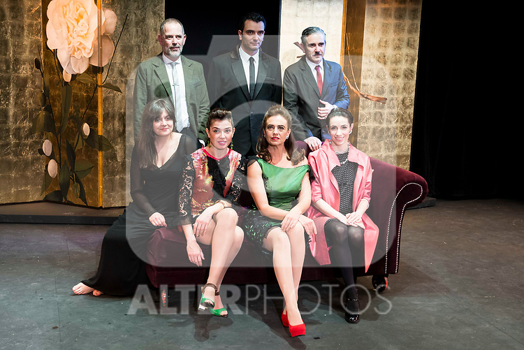 "Orancio Ortega, Fran Calvo, Jose Emilio Vera, Ruth Rubio, Noemi Rodriguez, Lola Baldrich and Rebeca Matellan during the theater play of ""Addio del Passato"" at Fernan Gomez Theater in Madrid. March 15, 2017. (ALTERPHOTOS/Borja B.Hojas)"