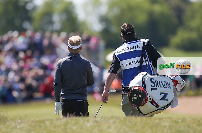 S?ren Kjeldsen (DEN) and caddie head down the 8th during Round Two of the 2015 Nordea Masters at the PGA Sweden National, Bara, Malmo, Sweden. 05/06/2015. Picture David Lloyd | www.golffile.ie