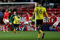 Ryan Ledson scores Oxford United's third goal during Charlton Athletic vs Oxford United, Sky Bet EFL League 1 Football at The Valley on 3rd February 2018
