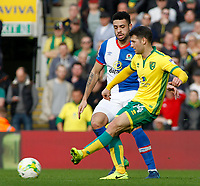 Blackburn Rovers' Derrick Williams chases down Norwich City's Wesley Hoolahan<br /> <br /> Photographer David Shipman/CameraSport<br /> <br /> The EFL Sky Bet Championship - Norwich City v Blackburn Rovers - Saturday 11th March 2017 - Carrow Road - Norwich<br /> <br /> World Copyright &copy; 2017 CameraSport. All rights reserved. 43 Linden Ave. Countesthorpe. Leicester. England. LE8 5PG - Tel: +44 (0) 116 277 4147 - admin@camerasport.com - www.camerasport.com