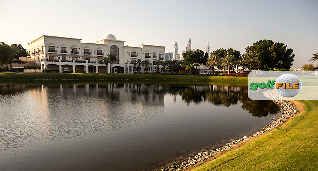 Clubhouse to the rear of the 18th at The Address Montgomerie Golf Club, Dubai, United Arab Emirates.  27/01/2016. Picture: Golffile | David Lloyd<br /> <br /> All photos usage must carry mandatory copyright credit (&copy; Golffile | David Lloyd)