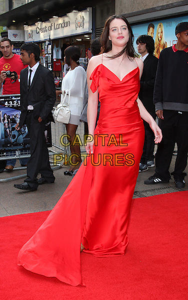 MICHELLE RYAN .World Film Premiere of '4,3,2,1' at the Empire, Leicester Square, London, England, UK, May 25th 2010.4321 4-3-2-1 arrivals full length red silk satin long maxi dress .CAP/ROS.©Steve Ross/Capital Pictures.
