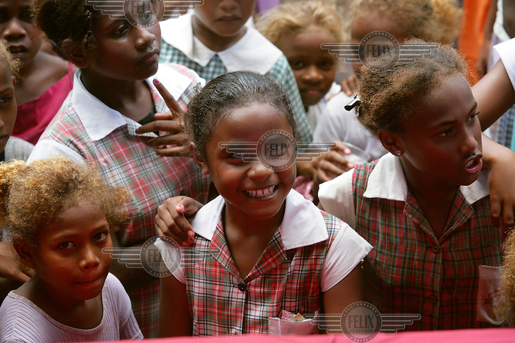 Children at festivities on International Children's Day in Honiara. UNICEF is a partner and supporter of this event.