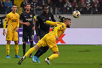 Nicolas Gavory (Standard Lüttich, R. Standard de Liege) klärt vor Danny da Costa (Eintracht Frankfurt) - 24.10.2019:  Eintracht Frankfurt vs. Standard Lüttich, UEFA Europa League, Gruppenphase, Commerzbank Arena<br /> DISCLAIMER: DFL regulations prohibit any use of photographs as image sequences and/or quasi-video.