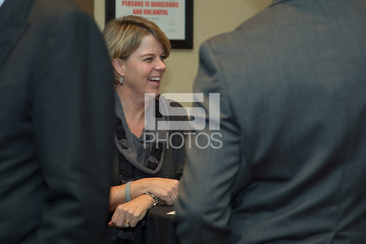 Chicago, IL - Thursday, October 16, 2014:  VIP guests attend a U.S. Soccer VIP Reception Party.