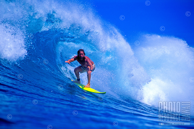 Mark Anderson surfing in Honolua Bay on Maui