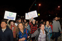 Thousands protest against Trump election at Not My President demonstration in Boston, MA 11.9.16