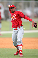 April 14, 2009:  Third Baseman Kleininger Teran of the St. Louis Cardinals extended spring training team during a game at Roger Dean Stadium Training Complex in Jupiter, FL.  Photo by:  Mike Janes/Four Seam Images