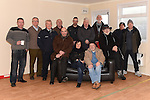 Cllr Dolores Minogue pictured with Ronan McConnon, Eugene Conlon, Tony Torris, Peter Devine, Patrick Murphy, Benny Dowd, Jack Waters, Oliver Flanagan, Martin Quinn, Liam Healy Declan Monaghan and Francie Marry in the new 'Mens Sheds' property in Dunleer.  Photo:Colin Bell/pressphotos.ie