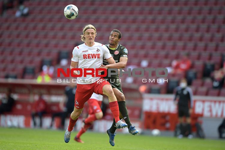 nph00351: Sebastian BORNAUW  (1.FC Koeln) <br /> Aktion,Zweikampf gegen  <br /> Robin QUAISON (1.FSV Mainz 05)<br /> Sport: Fussball: 1. Bundesliga: Saison 19/20: 26.Spieltag: 1.FC KOELN-FSV MAINZ 05,17.05.2020.<br /> Foto: Anke Waelischmiller/SVEN SIMON/POOL / via Meuter/nordphoto<br /> <br /> Nur für journalistische Zwecke! Only for editorial use!<br /> Gemäß den Vorgaben der DFL Deutsche Fußball Liga ist es untersagt, in dem Stadion und/oder vom Spiel angefertigte Fotoaufnahmen in Form von Sequenzbildern und/oder videoähnlichen Fotostrecken zu verwerten bzw. verwerten zu lassen. DFL regulations prohibit any use of photographs as image sequences and/or quasi-video.<br /> <br /> <br />  <br /> Foto: Anke Waelischmiller/SVEN SIMON/POOL/via Meuter/nordphoto