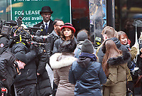 NEW YORK, NY - DECEMBER 8: Zendaya filming scenes for The Late Late Show With James Corden segment, Crosswalk The Musical in New York City on December 8, 2017. Credit: RW/MediaPunch /nortephoto.com NORTEPHOTOMEXICO