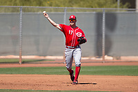 Cincinnati Reds third baseman Patrick Kivlehan (17) during a Minor League Spring Training game against the Chicago White Sox at the Cincinnati Reds Training Complex on March 28, 2018 in Goodyear, Arizona. (Zachary Lucy/Four Seam Images)