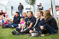 The Campbell Clan and friends watch the CIC2* SHOWJUMPING: 2015 NZL-Kihikihi International Horse Trial (Sunday 12 April) CREDIT: Libby Law COPYRIGHT: LIBBY LAW PHOTOGRAPHY