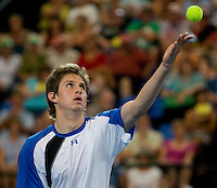 Igor Andreev (RUS) against Andy Murray (GBR) in the Group B match bewteen Great Britain and Russia. Andy Murray (GBR) beat Igor Andreev (RUS) 6-1 6-0..International Tennis - Hyundai Hopman Cup XXII - Fri 08 Jan 2010 - Burswood Dome - Perth - Australia ..© Frey - AMN Images, 1st Floor Barry House, 20-22 Worple Road, London, SW19 4DH