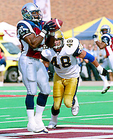 Mike Pringle Montreal Alouettes 2001. Photo John Bradley