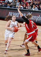 STANFORD, CA - January 25, 2013: Stanford Cardinal's Sara James during Stanford's 65-44 victory over the Utah at Maples Pavilion in Stanford, California.