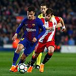 League Santander 2017/2018. Game: 25.<br /> FC Barcelona vs Girona FC: 6-1.<br /> Coutinho vs Portu.