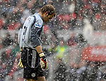A dejected Roy Carroll at the Riverside Stadium. during the Premier League match at the Riverside Stadium, Middlesbrough. Picture date 8th March 2008. Picture credit should read: Richard Lee/Sportimage