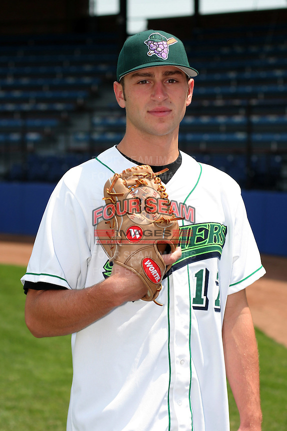 Jamestown Jammers Parrish Castor poses for a photo before a NY-Penn League game at Russell Diethrick Park on July 1, 2006 in Jamestown, New York.  (Mike Janes/Four Seam Images)
