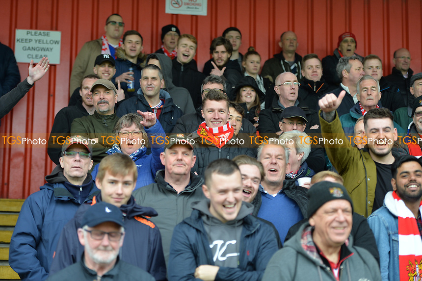 Stevenage fans  during Stevenage vs Exeter City, Sky Bet EFL League 2 Football at the Lamex Stadium on 28th April 2018
