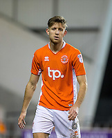 Will Aimson of Blackpool during the The Checkatrade Trophy match between Blackpool and Wycombe Wanderers at Bloomfield Road, Blackpool, England on 10 January 2017. Photo by Andy Rowland / PRiME Media Images.