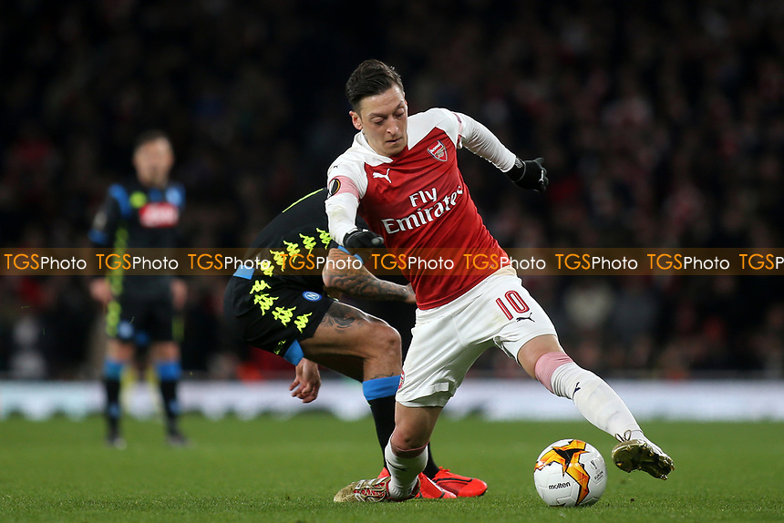 Mesut Ozil of Arsenal in action during Arsenal vs Napoli, UEFA Europa League Football at the Emirates Stadium on 11th April 2019