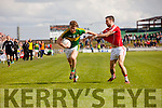 Donnchadh Walsh Kerry in action against  Cork in the National Football league in Austin Stack Park, Tralee on Sunday.
