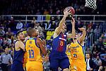 League ACB-ENDESA 2017/2018 - Game: 12.<br /> FC Barcelona Lassa vs Herbalife Gran Canaria: 77-88.<br /> Eulis Baez, Thomas Heurtel &amp; Oriol Pauli.