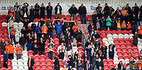 Blackpool fans celebrate at the final whistle<br /> <br /> Photographer Chris Vaughan/CameraSport<br /> <br /> The EFL Sky Bet League Two - Doncaster Rovers v Blackpool - Keepmoat Stadium - Doncaster<br /> <br /> World Copyright &copy; 2017 CameraSport. All rights reserved. 43 Linden Ave. Countesthorpe. Leicester. England. LE8 5PG - Tel: +44 (0) 116 277 4147 - admin@camerasport.com - www.camerasport.com