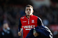 8th February 2020; Griffin Park, London, England; English Championship Football, Brentford FC versus Middlesbrough; Ravel Ryan Morrison of Sheffield United on loan to Middlesbrough