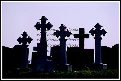 Graveyard, Eriskay .... Picture by Donald MacLeod