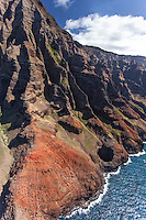 Aerial view of Na Pali coast, Kauai
