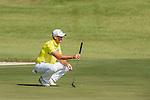 Sam Brazel of Australia ponders his next move during the 58th UBS Hong Kong Golf Open as part of the European Tour on 09 December 2016, at the Hong Kong Golf Club, Fanling, Hong Kong, China. Photo by Marcio Rodrigo Machado / Power Sport Images