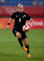 Rebecca Smith. The USWNT defeated New Zealand, 4-0, during the 2008 Beijing Olympics in Shenyang, China.  With the win, the USWNT won group G and advanced to the semifinals.
