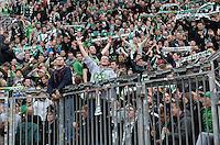 FUSSBALL   1. BUNDESLIGA   SAISON 2012/2013    31. SPIELTAG Bayer 04 Leverkusen - SV Werder Bremen                  27.04.2013 Werder Fans im Fanblock der BayArena