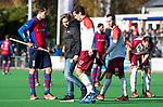 BILTHOVEN - blessure voor  Stijn Jolie (Almere)   tijdens de competitiewedstrijd heren,  SCHC-Almere (3-2) . COPYRIGHT KOEN SUYK