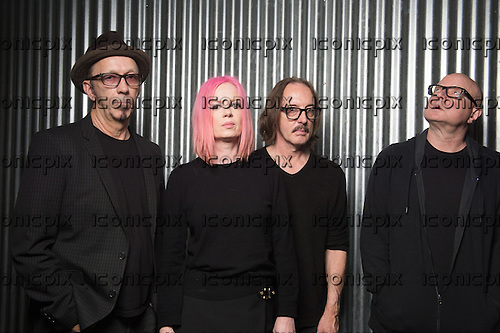 GARBAGE - L-R: Duke Erikson, Shirley Manson, Butch Vig, Steve Marker - Photosession in Paris France - 07 Nov 2015.  Photo credit: Trip Fontaine/Dalle/IconicPix  **UK ONLY**