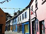 Colourful shops historic buildings, Kinsale, County Cork, Ireland, Irish Republic