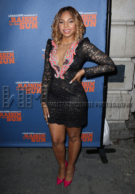 Ashanti attending the Broadway Opening Night Performance of 'A Raisin In The Sun'  at the Barrymore Theatre on April 3, 2014 in New York City.