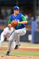 Lexington Legends starting pitcher Nolan Watson (23) delivers a pitch during a game against the Asheville Tourists at McCormick Field on May 25, 2018 in Asheville, North Carolina. The Tourists defeated the Legends 6-4. (Tony Farlow/Four Seam Images)